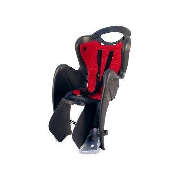Велокресло детское BELLELLI заднее Mr Fox Standard B-Fix, чёрное, арт.01FXSB0000Детское велокресло<br>Велокресло детское BELLELLI заднее Mr Fox Standard B-Fix,<br>Детское велокресло BELLELLI Mr Fox Standard идеально подходит для защиты Вашего малыша от всех невзгод во время велосипедной прогулки! Оно имеет специальное отверстие для шлема, а ремни безопасности, как и подпятники могут регулироваться по высоте. Широкие стенки были специально созданы для предохранения ножек ребенка от попадания в велосипедные спицы колеса. Гибкая стальная вилка уберегает спину ребенка от тряски при езде. Само кресло быстро устанавливается с помощью универсального крепежа. <br>Максимальная нагрузка на кресло составляет 22 кг.. Подходит для велосипедов с диаметром колес 26 - 28<br>Установка на подседельную трубу <br>Цвет: черный<br>Артикул: 01FXSB0000<br>