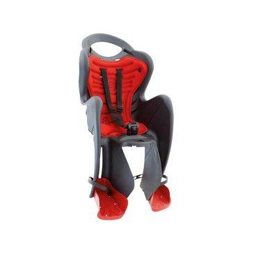 Велокресло детское BELLELLI заднее Mr Fox Standard B-Fix, тёмно-серое, арт.01FXSB0002Детское велокресло<br>Велокресло детское BELLELLI заднее Mr Fox Standard B-Fix, <br>Bellelli Mr Fox Standard - превосходное кресло для транспортировки детей дошкольного возраста на велосипеде. Его конструкция прочная и надежная, а материал, из которого выполнено Bellelli Mr Fox Standard, легкий и абсолютно нетоксичный. Ремни безопасности трехточечные, хорошо фиксируют ребенка, защищая от травм. Подножки регулируются, имеют удобную поверхность для устойчивого расположения ног, независимо от роста малыша. Детское велокресло Bellelli Mr Fox Standard оснащено мягкой подкладкой, которая хорошо моется и чистится, не теряя первоначальных свойств. Эргономичная спинка обеспечивает безупречную посадку, предусмотрена также выемка для шлема.<br>Устанавливается: на багажник велосипеда.<br>Вес ребёнка: до 22 кг.<br>Приблизительный возраст ребёнка: ~от 1 года до 7 лет.<br>Допустимая ширина багажника: от 12-17,5 см (багажник НЕ консольного типа).<br>Грузоподъёмность багажника: до 25 кг.<br>Колёса взрослого велосипеда: от 26 до 29.<br>Крепление Clamp: это быстросъёмное крепление на багажник.<br>Цвет: темно- серый<br>Артикул: 01FXSB0002<br>