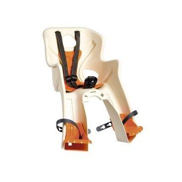 Велокресло детское BELLELLI  Rabbit B-Fix, переднее, кремовое, 01RBTB0025Детское велокресло<br>Велокресло детское BELLELLI переднее Rabbit B-Fix<br>Велокресло переднее Rabbit с креплением B-Fix - это новинка 2016 года от BELLELLI.  <br>Крепление этого кресла обладает дополнительной опцией «контроль». То есть, без специального ключа снять или установить кресло не возможно.  <br>Кресло Rabbit B-Fix устанавливается на рулевой стакан либо на нижнюю трубу рамы байка.  <br>Рама велосипеда должна быть либо круглого (28-45 мм), либо овального сечения (28-60 мм).<br>Велокресло изготовлено из прочного пластика, оно цельное, без неудобных стыков. Внутри мягкий вкладыш, который всегда можно постирать.  <br>Защита ног от соприкосновения с колесом, надежные ремни безопасности, высокие боковины. <br>Отличительная особенность модели Rabbit подножки в виде лапок зайца. <br>Вес ребёнка: не более 15 кг.<br>Возраст ребёнка: ~ 3-4 года.<br>Материал: пластик.<br>Материал крепления: сталь.<br>Крепление B-Fix: это крепление на  рулевой стакан либо на нижнюю трубу рамы велосипеда.<br>Крепление: на рулевую трубу рамы<br>Цвет:  кремовый<br>