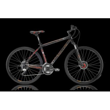Гибридный велосипед KELLYS CLIFF 90 2016Гибридные<br>KELLYS CLIFF 90 2016<br>KELLYS CLIFF 90 2016 - универсальный велосипед как для проселочных дорог так и для асфальта. Пружинно-масляная амортизационная вилка помогает сглаживать неровности при каткнии, а с помощью возможности изменять жесткость пружины или вовсе заблокировать ход вилки вы можете настроить её под все возможные ситуации. Дисковые гидравлические тормоза ProMax  обеспечат уверенное торможение в любых ситуацияъ. Велосипед укомплектован оборудованием известной фирмы Shimano!<br><br><br><br><br><br><br><br>Общие характеристики<br><br><br>Модель<br>2016 года<br><br><br>Тип<br>для взрослых<br><br><br>Область применения<br>горный гибрид<br><br><br>Вес велосипеда<br>14.40 кг<br><br><br>Рама, вилка<br><br><br>Материал рамы<br>алюминиевый сплав<br><br><br>Размеры рамы<br>17, 19, 21, 23<br><br><br>Амортизация<br>Hard tail (с амортизационной вилкой)<br><br><br>Наименование мягкой вилки<br>SR Suntour NEX-HLO<br><br><br>Конструкция вилки<br>пружинно-масляная<br><br><br>Уровень мягкой вилки<br>спортивный<br><br><br>Ход вилки<br>63 мм<br><br><br>Регулировки вилки<br>жесткости пружины, блокировка хода<br><br><br>Конструкция рулевой колонки<br>полуинтегрированная, безрезьбовая<br><br><br>Размер рулевой колонки<br>1 1/8<br><br><br>Колеса<br><br><br>Диаметр колес<br>28 дюймов<br><br><br>Наименование покрышек<br>Innova 44-622, 700x42c<br><br><br>Наименование ободов<br>KLS Draft, 622x19<br><br><br>Материал обода<br>алюминиевый сплав<br><br><br>Двойной обод<br>есть<br><br><br>Материал бортировочного шнура<br>металл<br><br><br>Торможение<br><br><br>Наименование переднего тормоза<br>ProMax Solve, 160mm <br><br><br>Тип переднего тормоза<br>дисковый гидравлический <br><br><br>Уровень переднего тормоза<br>спортивный <br><br><br>Наименование заднего тормоза<br>ProMax Solve, 160mm <br><br><br>Тип заднего тормоза<br>дисковый гидравлический <br><br><br>Уровень заднего тормоза<br>спортивный <br><br><br>Возможность крепления дискового