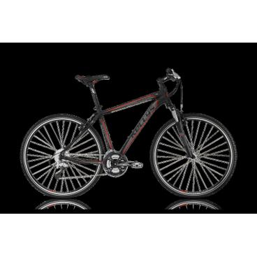 Гибридный велосипед KELLYS PHANATIC 10 2014Гибридные<br>KELLYS PHANATIC 10 2014<br>Кроссовый велосипед для прогулок по городу и не сложному бездорожью. На модели велосипеда Kellys Phanatic 10 2014 установлено оборудование Shimano. Достаточно высокая серия Shimano у переключателей: Deore и M191, манетки Alivio. Быстрое и надежное торможение обеспечивают ободные тормоза типа V-brake с тормозными ручками Shimano Alivio. Быструю езду и хороший накат обеспечивают 28-ми дюймовые колеса. Kellys Phanatic 10 2014 - хороший велосипед в соотношении цены и качества.<br><br><br><br><br><br><br><br>Общие характеристики<br><br><br>Модель<br>2014 года<br><br><br>Тип<br>для взрослых<br><br><br>Область применения<br>горный гибрид<br><br><br>Вес велосипеда<br>13,86 кг<br><br><br>Рама, вилка<br><br><br>Материал рамы<br>алюминиевый сплав<br><br><br>Размеры рамы<br>17, 19, 21, 23<br><br><br>Амортизация<br>Hard tail (с амортизационной вилкой)<br><br><br>Наименование мягкой вилки<br>SR Suntour NEX-HLO-700С<br><br><br>Конструкция вилки<br>пружинно-масляная<br><br><br>Уровень мягкой вилки<br>спортивный<br><br><br>Ход вилки<br>63 мм<br><br><br>Регулировки вилки<br>жесткости пружины, блокировка хода<br><br><br>Конструкция рулевой колонки<br>полуинтегрированная, безрезьбовая<br><br><br>Колеса<br><br><br>Диаметр колес<br>28 дюймов<br><br><br>Наименование покрышек<br>Kelly`s Softline, 40-622, 700x38c<br><br><br>Наименование ободов<br>KLS Draft, 622x19<br><br><br>Материал обода<br>алюминиевый сплав<br><br><br>Двойной обод<br>есть<br><br><br>Материал бортировочного шнура<br>металл<br><br><br>Торможение<br><br><br>Наименование переднего тормоза<br>Tektro<br><br><br>Тип переднего тормоза<br>V-Brake<br><br><br>Уровень переднего тормоза<br>прогулочный<br><br><br>Наименование заднего тормоза<br>Tektro<br><br><br>Тип заднего тормоза<br>V-Brake<br><br><br>Уровень заднего тормоза<br>прогулочный<br><br><br>Возможность крепления дискового тормоза<br>рама, вилка<br><br><br>Трансмиссия<br><br><br>Количество ск