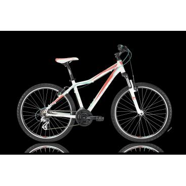 Женский горный велосипед KELLYS VANITY 20 2016Горные (MTB)<br>KELLYS VANITY 20 2016<br>Сногсшибательный яркий велосипед от известного производителя Kellys. Модель имеет заниженную раму для удобства при посадке на велосипед, 26 дюймовые колеса и облегченную алюминиевую раму с гоночной геометрией LSG.<br><br><br><br><br><br><br>Общие характеристики<br><br><br>Модель<br>2016 года<br><br><br>Тип<br>для взрослых, женская модель<br><br><br>Область применения<br>горный (MTB), кросс-кантри<br><br><br>Вес велосипеда<br>13,70 кг<br><br><br>Рама, вилка<br><br><br>Материал рамы<br>алюминиевый сплав<br><br><br>Размеры рамы<br>15.0, 17.0, 19.0<br><br><br>Амортизация<br>Hard tail (с амортизационной вилкой)<br><br><br>Наименование мягкой вилки<br>SR Suntour M3030 26 Coil<br><br><br>Конструкция вилки<br>пружинно-эластомерная<br><br><br>Уровень мягкой вилки<br>прогулочный<br><br><br>Ход вилки<br>75 мм<br><br><br>Конструкция рулевой колонки<br>полуинтегрированная, безрезьбовая<br><br><br>Размер рулевой колонки<br>1 1/8<br><br><br>Колеса<br><br><br>Диаметр колес<br>26 дюймов<br><br><br>Наименование покрышек<br>Innova 54-559, 26x2.0<br><br><br>Наименование ободов<br>KLS Draft, 559x19<br><br><br>Материал обода<br>алюминиевый сплав<br><br><br>Двойной обод<br>есть<br><br><br>Материал бортировочного шнура<br>металл<br><br><br>Торможение<br><br><br>Наименование переднего тормоза<br>Apse Artek<br><br><br>Тип переднего тормоза<br>V-Brake<br><br><br>Уровень переднего тормоза<br>прогулочный<br><br><br>Наименование заднего тормоза<br>Apse Artek<br><br><br>Тип заднего тормоза<br>V-Brake<br><br><br>Уровень заднего тормоза<br>прогулочный<br><br><br>Возможность крепления дискового тормоза<br><br>рама<br><br><br>Трансмиссия<br><br><br>Количество скоростей<br>21<br><br><br>Уровень заднего переключателя<br>прогулочный<br><br><br>Наименование заднего переключателя<br>Shimano Altus RD-M310<br><br><br>Уровень переднего переключателя<br>начальный<br><br><br>Наименование переднего переключателя<br>Shimano FD