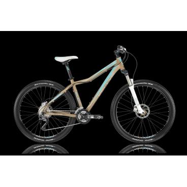 Женский горный велосипед KELLYS VANITY 70 2016Горные (MTB)<br>KELLYS VANITY 70 2016<br>Женский MTB велосипед KELLYS VANITY 70 2016, с яркой окраской и заниженной рамой. Велосипед имеет навесное оборудование среднего уровня, хорошую амортизационную вилку с ходом в 100 мм и дисковые гидравлические тормоза.<br><br><br><br><br><br><br>Общие характеристики<br><br><br>Модель<br>2016 года<br><br><br>Тип<br>для взрослых, женская модель<br><br><br>Область применения<br>горный (MTB), кросс-кантри<br><br><br>Вес велосипеда<br>14,68 кг<br><br><br>Рама, вилка<br><br><br>Материал рамы<br>алюминиевый сплав<br><br><br>Размеры рамы<br>15.0, 17.0, 19.0<br><br><br>Амортизация<br>Hard tail (с амортизационной вилкой)<br><br><br>Наименование мягкой вилки<br>SR Suntour XCR-LO 27.5 Coil<br><br><br>Конструкция вилки<br>пружинно-масляная<br><br><br>Уровень мягкой вилки<br>спортивный <br><br><br>Ход вилки<br>100 мм<br><br><br>Регулировки вилки<br>жесткости пружины, блокировка хода<br><br><br>Конструкция рулевой колонки<br>полуинтегрированная, безрезьбовая<br><br><br>Размер рулевой колонки<br>1 1/8<br><br><br>Колеса<br><br><br>Диаметр колес<br>27.5 дюймов<br><br><br>Наименование покрышек<br>KLS Attack 54-584, 27.5x2.1<br><br><br>Наименование ободов<br>KLS Draft Disc, 584x19<br><br><br>Материал обода<br>алюминиевый сплав<br><br><br>Двойной обод<br>есть<br><br><br>Торможение<br><br><br>Наименование переднего тормоза<br>Tektro Auriga, 160mm<br><br><br>Тип переднего тормоза<br>дисковый гидравлический<br><br><br>Уровень переднего тормоза<br>спортивный<br><br><br>Наименование заднего тормоза<br>Tektro Auriga, 160mm<br><br><br>Тип заднего тормоза<br>дисковый гидравлический<br><br><br>Уровень заднего тормоза<br>спортивный<br><br><br>Возможность крепления дискового тормоза<br><br>рама, вилка, втулки<br><br><br>Трансмиссия<br><br><br>Количество скоростей<br>27<br><br><br>Уровень заднего переключателя<br>спортивный<br><br><br>Наименование заднего переключателя<br>Shimano Alivio RD-M4000<br><br><br>Уровен