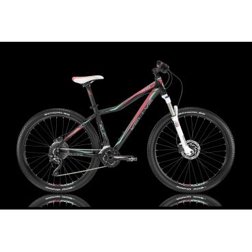 Женский горный велосипед KELLYS VANITY 90 2016Горные (MTB)<br>KELLYS VANITY 90 2016<br>Женский горный велосипед от известного Американского производителя Kellys. Данная модель имеет заниженную раму, для более удобной посадки на велосипед. Навесное оборудование Shimano полупрофессионального уровня, а так же вилка с ходом 100 мм<br><br><br><br><br><br><br>Общие характеристики<br><br><br>Модель<br>2016 года<br><br><br>Тип<br>для взрослых, женская модель<br><br><br>Область применения<br>горный (MTB), кросс-кантри<br><br><br>Вес велосипеда<br>13,30 кг<br><br><br>Рама, вилка<br><br><br>Материал рамы<br>алюминиевый сплав<br><br><br>Размеры рамы<br>15.0, 17.0, 19.0<br><br><br>Амортизация<br>Hard tail (с амортизационной вилкой)<br><br><br>Наименование мягкой вилки<br>RockShox 30 Silver TK 27.5 Solo Air<br><br><br>Конструкция вилки<br>воздушно-масляная<br><br><br>Уровень мягкой вилки<br>спортивный <br><br><br>Ход вилки<br>100 мм<br><br><br>Регулировки вилки<br>жесткости пружины, скорости обратного хода, блокировка хода<br><br><br>Другие регулировки<br>TurnKey Lockout<br><br><br>Конструкция рулевой колонки<br>полуинтегрированная, безрезьбовая<br><br><br>Размер рулевой колонки<br>1 1/8<br><br><br>Колеса<br><br><br>Диаметр колес<br>27.5 дюймов<br><br><br>Наименование покрышек<br>Schwalbe Rapid Rob 54-584, 27.5x2.10<br><br><br>Наименование ободов<br>KLS Draft Disc, 584x19<br><br><br>Материал обода<br>алюминиевый сплав<br><br><br>Двойной обод<br>есть<br><br><br>Торможение<br><br><br>Наименование переднего тормоза<br>Shimano BR-M355, 160mm<br><br><br>Тип переднего тормоза<br>дисковый гидравлический<br><br><br>Уровень переднего тормоза<br>спортивный<br><br><br>Наименование заднего тормоза<br>Shimano BR-M355, 160mm<br><br><br>Тип заднего тормоза<br>дисковый гидравлический<br><br><br>Уровень заднего тормоза<br>спортивный<br><br><br>Возможность крепления дискового тормоза<br><br>рама, вилка, втулки<br><br><br>Трансмиссия<br><br><br>Количество скоростей<br>30<br><br><br>Уровень заднего 