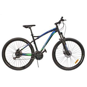 Горный велосипед GRAVITY FLINT 2015Горные (MTB)<br>GRAVITY FLINT 2015<br><br>GRAVITY FLINT - комфортный горный велосипед с колесами нового стандарата 27.5. Велосипед оснащен оборудованием спортивно-прогулчного уровня известной фирмы Shimano, надежными дисковыми механическими тормозами, амортизационной вилкой с возможностью регулировки жесткости пружины и её блокировки.<br><br><br><br><br><br>Общие характеристики<br><br><br>Модель<br>2015 года<br><br><br>Тип<br>для взрослых<br><br><br>Область применения<br>горный (MTB), кросс-кантри<br><br><br>Вес велосипеда<br>14.3 кг<br><br><br>Рама, вилка<br><br><br>Материал рамы<br>алюминиевый сплав<br><br><br>Размеры рамы<br>19.0<br><br><br>Амортизация<br>Hard tail (с амортизационной вилкой)<br><br><br>Наименование мягкой вилки<br>Zoom 595 HL<br><br><br>Конструкция вилки<br>пружинно-масляная <br><br><br>Уровень мягкой вилки<br>спортивный<br><br><br>Регулировки вилки<br>жесткости пружины, блокировка хода<br><br><br>Конструкция рулевой колонки<br>безрезьбовая<br><br><br>Колеса<br><br><br>Диаметр колес<br>27.5 дюймов<br><br><br>Наименование покрышек<br>Kenda K1047, 27.5x2.10<br><br><br>Наименование ободов<br>27.5x1.75<br><br><br>Материал обода<br>алюминиевый сплав<br><br><br>Двойной обод<br>есть<br><br><br>Материал бортировочного шнура<br>металл<br><br><br>Торможение<br><br><br>Наименование переднего тормоза<br>Shimano Tourney BR-TX805, 160mm<br><br><br>Тип переднего тормоза<br>дисковый механический<br><br><br>Уровень переднего тормоза<br>прогулочный<br><br><br>Наименование заднего тормоза<br>Shimano Tourney BR-TX805, 160mm<br><br><br>Тип заднего тормоза<br>дисковый механический<br><br><br>Уровень заднего тормоза<br>прогулочный<br><br><br>Возможность крепления дискового тормоза<br><br>рама, вилка, втулки<br><br><br>Трансмиссия<br><br><br>Количество скоростей<br>24<br><br><br>Уровень заднего переключателя<br>спортивный<br><br><br>Наименование заднего переключателя<br>Shimano Alivio RD-M410<br><br><br>Уровень переднего переключателя<