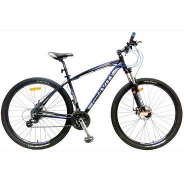 Горный велосипед GRAVITY SHOCK 2015Горные (MTB)<br>GRAVITY SHOCK 2015<br><br>GRAVITY SHOCK - горный велосипед с колесами 29. Такой формат колес имеет отличный канакт и хорошо сглаживает маленькие неровности дороги. Велосипед оснащен оборудованием прогулочного уровня фирмы Shimano, надежными дисковыми механическими тормозами прогулочного уровня, амортизационной вилкой c ходом 100 мм, возможностью регулировки жесткости пружины и её блокировки.<br><br><br><br><br><br>Общие характеристики<br><br><br>Модель<br>2015 года<br><br><br>Тип<br>для взрослых<br><br><br>Область применения<br>горный (MTB), кросс-кантри<br><br><br>Вес велосипеда<br>14.3 кг<br><br><br>Рама, вилка<br><br><br>Материал рамы<br>алюминиевый сплав<br><br><br>Размеры рамы<br>19.0<br><br><br>Амортизация<br>Hard tail (с амортизационной вилкой)<br><br><br>Наименование мягкой вилки<br>SR Suntour XCT-DS-MLO<br><br><br>Конструкция вилки<br>пружинно-эластомерная<br><br><br>Уровень мягкой вилки<br>прогулочный<br><br><br>Ход вилки<br>100 мм<br><br><br>Регулировки вилки<br>жесткости пружины, блокировка хода<br><br><br>Конструкция рулевой колонки<br>безрезьбовая<br><br><br>Колеса<br><br><br>Диаметр колес<br>29 дюймов<br><br><br>Наименование покрышек<br>Kenda K1047, 29x2.10, 60TPI<br><br><br>Наименование ободов<br>29x1.75<br><br><br>Материал обода<br>алюминиевый сплав<br><br><br>Двойной обод<br>есть<br><br><br>Торможение<br><br><br>Наименование переднего тормоза<br>ProMax, 160mm<br><br><br>Тип переднего тормоза<br>дисковый механический<br><br><br>Уровень переднего тормоза<br>прогулочный<br><br><br>Наименование заднего тормоза<br>ProMax, 160mm<br><br><br>Тип заднего тормоза<br>дисковый механический<br><br><br>Уровень заднего тормоза<br>прогулочный<br><br><br>Возможность крепления дискового тормоза<br><br>рама, вилка, втулки<br><br><br>Трансмиссия<br><br><br>Количество скоростей<br>24<br><br><br>Уровень заднего переключателя<br>прогулочный<br><br><br>Наименование заднего переключателя<br>Shimano Altus RD-M310<br><br><br