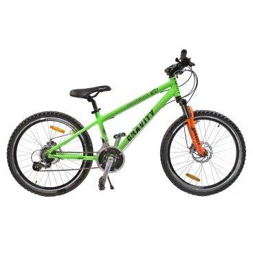 Подростковый горный велосипед GRAVITY EXPEDITION DISC 2015Подростковые<br>GRAVITY EXPEDITION DISC 2015<br>Яркий и шустрый подростковый велосипед GRAVITY EXPEDITION DISC, с 24 дюймовыми колесами. Велосипед отлично подойдет для детей в возрасте от 9 до 13 лет. На данной модели установлено навесное оборудование начального уровня.<br><br><br><br><br><br>Общие характеристики<br><br><br>Модель<br>2015 года<br><br><br>Тип<br>подростковый<br><br><br>Возраст ребенка<br>9-15 лет (рост от 135 см)<br><br><br>Область применения<br>горный (MTB)<br><br><br>Вес велосипеда<br>14,2 кг<br><br><br>Рама, вилка<br><br><br>Материал рамы<br>алюминиевый сплав<br><br><br>Размеры рамы<br>17<br><br><br>Амортизация<br>Hard tail (с амортизационной вилкой)<br><br><br>Конструкция вилки<br>пружинно-эластомерная<br><br><br>Уровень мягкой вилки<br>начальный<br><br><br>Конструкция рулевой колонки<br>безрезьбовая<br><br><br>Колеса<br><br><br>Диаметр колес<br>24 дюймов<br><br><br>Материал обода<br>алюминиевый сплав<br><br><br>Материал бортировочного шнура<br>металл<br><br><br>Торможение<br><br><br>Тип переднего тормоза<br>дисковый механический<br><br><br>Уровень переднего тормоза<br>прогулочный<br><br><br>Тип заднего тормоза<br>дисковый механический<br><br><br>Уровень заднего тормоза<br>прогулочный<br><br><br>Возможность крепления дискового тормоза<br>рама, вилка, втулки<br><br><br>Трансмиссия<br><br><br>Количество скоростей<br>21<br><br><br>Уровень заднего переключателя<br>начальный<br><br><br>Наименование заднего переключателя<br>Shimano Tourney RD-TX35<br><br><br>Уровень переднего переключателя<br>начальный<br><br><br>Наименование переднего переключателя<br>Shimano Tourney FD-TY10<br><br><br>Уровень манеток<br>начальные<br><br><br>Конструкция манеток<br>триггерные двухрычажные<br><br><br>Конструкция каретки<br>неинтегрированная<br><br><br>Уровень кассеты<br>начальные<br><br><br>Количество звезд в кассете<br>7<br><br><br>Количество звезд системы<br>3<br><br><br>Конструкция педалей<br>классическая<br><