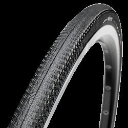 Покрышка Maxxis Relix TT, 700x23C, 170 TPI,  шоссе, TB86238200Велопокрышки<br>Идеальная шина для триатлона и гонок с раздельным стартом. Relix TT показывает наименьшее сопротивление качению, обеспечивая максимальную скорость. Из-за своего экстремально низкого веса, покрышка рекомендована исключительно для гонок.<br>