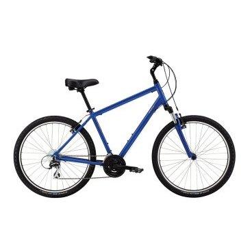 Горный велосипед MARIN Stinson 2016Горные (MTB)<br>MARIN STINSON 2016<br>Линия Comfort разработана и создана для велосипедистов-любителей. Эти модели обладают легкосплавной рамой из алюминия 6061, амортизационной вилкой, 26 дюймовыми колесами, эргономичным рулем, регулируемыми выносами, шикарными седлами и широкими шинами с протектором универсального использования. Дизайн отличается прогулочной геометрией с вертикальным посадкой.<br><br><br><br><br>Общие характеристики<br><br><br>Модель<br>2016 года<br><br><br>Тип<br>для взрослых<br><br><br>Область применения<br>городской<br><br><br>Вес велосипеда<br>14.32 кг<br><br><br>Рама, вилка<br><br><br>Материал рамы<br>алюминиевый сплав<br><br><br>Амортизация<br>Hard tail (с амортизационной вилкой)<br><br><br>Наименование мягкой вилки<br>SR Suntour<br><br><br>Конструкция вилки<br>пружинно-эластомерная<br><br><br>Уровень мягкой вилки<br>прогулочный<br><br><br>Ход вилки<br>63 мм<br><br><br>Регулировки вилки<br>жесткости пружины<br><br>Конструкция рулевой колонки<br>резьбовая<br><br><br>Колеса<br><br><br>Диаметр колес<br>26 дюймов<br><br><br>Наименование покрышек<br>Schwalbe Land Cruiser, 26x1.95, Kevlar Puncture Protection<br><br><br>Наименование ободов<br>Maddux<br><br><br>Материал обода<br>алюминиевый сплав<br><br><br>Двойной обод<br>есть<br><br><br>Торможение<br><br><br>Наименование переднего тормоза<br>Forged Alloy Linear Pull w/ Power Modulator<br><br><br>Тип переднего тормоза<br>V-Brake<br><br><br>Уровень переднего тормоза<br>прогулочный<br><br><br>Наименование заднего тормоза<br>Forged Alloy Linear Pull<br><br><br>Тип заднего тормоза<br>V-Brake<br><br><br>Уровень заднего тормоза<br>прогулочный<br><br><br>Трансмиссия<br><br><br>Количество скоростей<br>24<br><br><br>Уровень заднего переключателя<br>прогулочный<br><br><br>Наименование заднего переключателя<br>Shimano Acera Shadow<br><br><br>Уровень переднего переключателя<br>начальный<br><br><br>Наименование переднего переключателя<br>Shimano FD-M190<br><br><br>Уровень мане