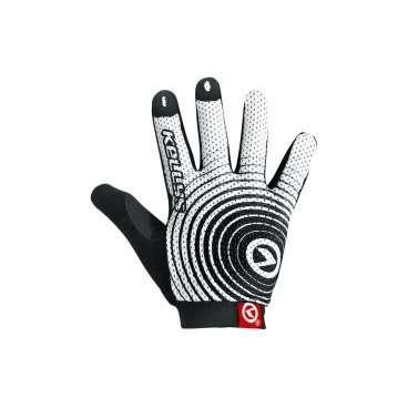Перчатки KELLYS INSTINCT long, чёрно-белые, XLВелоперчатки<br>Перчатки INSTINCT LONG. Перчатки с длинными пальцами. Выполнены из облегченного материала Lycra mesh. Система Pull-on с 3D лого для более удобного размещения перчаток на руке. Ладонь состоит из синтетической кожи Amara с добавлением гелиевых вставок для более комфортных ощущений. Силиконовые рисунки на пальцах для лучшего захвата и предотвращения скольжения. Область большого пальца выполнена из махровой ткани.<br>
