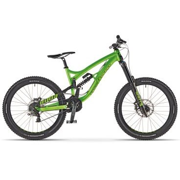 Двухподвесный велосипед AUTHOR Ninja FR 2017Двухподвесные<br>AUTHOR NINJA FR 2017<br><br><br><br><br><br>Общие характеристики<br><br><br>Модель<br>2017 года<br><br><br>Тип<br>для взрослых<br><br><br>Область применения<br>trail, enduro, all mountain<br><br><br>Рама, вилка<br><br><br>Материал рамы<br>алюминиевый сплав<br><br><br>Амортизация<br>двухподвесный<br><br><br>Наименование мягкой вилки<br>RST Storm Super oil 20 mm thru axle<br><br><br>Ход вилки<br>180 мм<br><br><br>Наименование заднего амортизатора<br>spring shocker X-FUSION Vector R 222 / 70 mm<br><br><br>Ход задней подвески<br>180 мм<br><br><br>Рулевая колонка<br>PRESTINE Integrated 1.5 tapered<br><br><br>Колеса<br><br><br>Диаметр колес<br>26 дюймов<br><br><br>Наименование покрышек<br>VITTORIA Martello 27.5 x 2.50<br><br><br>Наименование ободов<br>AG Lab Reverse 32 holes<br><br><br>Двойной обод<br>есть<br><br><br>Торможение<br><br><br>Наименование переднего тормоза<br>TRP Slate 4<br><br><br>Тип переднего тормоза<br>дисковый гидравлический<br><br><br>Наименование заднего тормоза<br>TRP Slate 4<br><br><br>Тип заднего тормоза<br>дисковый гидравлический<br><br><br>Трансмиссия<br><br><br>Количество скоростей<br>9<br><br><br>Наименование заднего переключателя<br>SRAM X7<br><br><br>Наименование переднего переключателя<br>E13 chain guide<br><br>Наименование манеток<br>SRAM X5 Trigger<br><br><br>Конструкция манеток<br>триггерные двухрычажные<br><br><br>Наименование каретки<br>TRUVATIV Howitzer<br><br><br>Наименование кассеты<br>SRAM PG-950 11-32<br><br><br>Количество звезд в кассете<br>9<br><br><br>Система<br>TRUVATIV Hussefelt 1.0 34 teeth 170 mm cranks<br><br><br>Конструкция педалей<br>платформы<br><br><br>Руль<br><br><br>Конструкция руля<br>изогнутый<br>