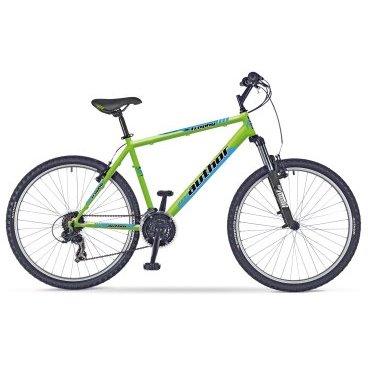 Горный велосипед AUTHOR Trophy 26 2017Горные (MTB)<br>AUTHOR TROPHY 2017<br><br><br><br><br><br>Общие характеристики<br><br><br>Модель<br>2017 года<br><br><br>Тип<br>для взрослых<br><br><br>Область применения<br>горный, MTB<br><br><br>Рама, вилка<br><br><br>Материал рамы<br>сталь<br><br><br>Амортизация<br>Hard tail (с амортизационной вилкой)<br><br><br>Наименование мягкой вилки<br>ZOOM<br><br><br>Ход вилки<br>60 мм<br><br><br>Рулевая колонка<br>VP COMP 1<br><br><br>Колеса<br><br><br>Диаметр колес<br>26 дюймов<br><br><br>Наименование покрышек<br>AUTHOR Speed Master 26 x 2.00<br><br><br>Наименование ободов<br>alloy 36 holes<br><br><br>Торможение<br><br><br>Тип переднего тормоза<br>V-brake<br><br><br>Тип заднего тормоза<br>V-brake<br><br><br>Трансмиссия<br><br><br>Количество скоростей<br>18<br><br><br>Наименование заднего переключателя<br>SHIMANO TY21<br><br><br>Наименование переднего переключателя<br>SHIMANO TY500<br><br>Наименование манеток<br>SHIMANO<br><br><br>Наименование каретки<br>VP COMP<br><br><br>Наименование кассеты<br>SHIMANO MF-TZ20 14-28<br><br><br>Количество звезд в кассете<br>6<br><br><br>Система<br>PROWHEEL 42-34-24 teeth 170 mm cranks<br><br><br>Конструкция педалей<br>классические<br><br><br>Руль<br><br><br>Конструкция руля<br>изогнутый<br>