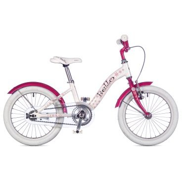 Детский велосипед AUTHOR Bello 2017Детские<br>AUTHOR BELLO 2017<br><br>BELLO 16 размер колес, размер рамы 9, идеально подойдет для девочек ростом 100 - 125 см. Прочная стальная вилка, 1 скорость<br>Отличный детский велосипед для девочек. Очень легкий детский велосипед от Author, весит всего 8,2 кг! Выпускается в двух расцветках.<br>Приставные колеса в комплекте.<br><br><br><br><br>Общие характеристики<br><br><br>Модель<br>2017 года<br><br><br>Тип<br>детский, для девочек<br><br><br>Область применения<br>городской<br><br><br>Рама, вилка<br><br><br>Материал рамы<br>алюминий<br><br><br>Амортизация<br>отсутствует<br><br><br>Конструкция мягкой вилки<br>жесткая<br><br><br>Рулевая колонка<br>VP COMP 1<br><br><br>Колеса<br><br><br>Диаметр колес<br>16 дюймов<br><br><br>Наименование покрышек<br>16 x 1.50<br><br><br>Наименование ободов<br>alloy 28 holes<br><br><br>Торможение<br><br><br>Наименование переднего тормоза<br>TEKTRO V<br><br><br>Тип переднего тормоза<br>ободной <br><br><br>Тип заднего тормоза<br>ножной<br><br><br>Трансмиссия<br><br><br>Количество скоростей<br>1<br><br><br>Наименование заднего переключателя<br>отсутствует<br><br><br>Наименование переднего переключателя<br>отсутствует<br><br>Наименование манеток<br>отсутствует<br><br><br>Наименование каретки<br>VP COMP<br><br><br>Наименование кассеты<br>coasterhub 16T<br><br><br>Количество звезд в кассете<br>1<br><br><br>Система<br>PROWHEEL 32 teeth 102 mm cranks<br><br><br>Конструкция педалей<br>классические<br><br><br>Руль<br><br><br>Конструкция руля<br>изогнутый<br>
