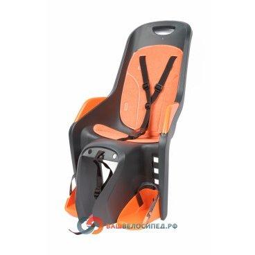 Детское велокресло Author Bubbly Maxi на подседельную трубу, серо-оранжевое, до 22кг 8-16240252Детское велокресло<br>Детское сиденье на багажник/подседельный штырь. <br>Особенно стоит выделить эргономичню форму кресла - теперь использование шлема стало гароздо проще и удобнее.<br> Сиденье оснащено системой 3х точечных ремней безопасности,которые надёжно зафиксируют вашего ребенка, защитой и удерживающими устройствами для ног с 4 позицями регулировки подножек.<br> Кресло полностью соответствует евростандарту безопасности EN 14344.<br> Рекомендуемый вес ребенка 9-22кг, возраст 1-7 лет.<br> Технические характеристики:<br> Быстрая и удобная установка<br> Надёжные ремни с системой 3х точечного контактирования<br> Светоотражающие элементы сзади кресла<br> Диаметр подседельной трубы 28-40 мм. <br> Небольшой вес кресла - всего 5 кг; объем 0,0840.<br> Размер сиденья w.412 х h.667 х d.574mm.<br> Цвет : серо-оранжевый<br> Страна производитель: Португалия<br> Весь необходимый крепёж поставляется в комплекте.<br>  Высота спинки:48смШирина спинки:25смДлина сиденья:19смДиаметр замка:40-28ммРасстояние между усами крепления:90мм<br>