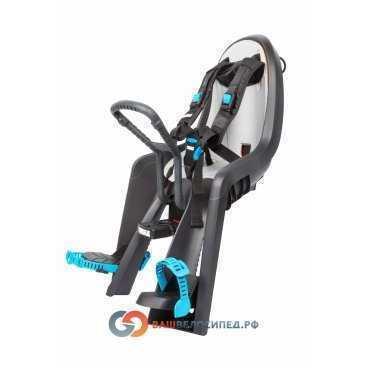 Детское велосипедное сидение на раму Thule RideAlong Mini, светло серый 100104Детское велокресло<br>Детское велосипедное сидение на раму Thule RideAlong Mini, светло серый <br>Позволяет вашему ребенку взглянуть на мир по-новому! Это переднее сидение для ребенка с интуитивно-понятной конструкцией обеспечит вам и вашему ребенку безопасные и приятные поездки.<br><br>- Мягкие ремни безопасности с надежным регулируемым 5-точечным креплением обеспечивают максимальный комфорт и безопасность для ребенка.<br><br>- Регулируемые одной рукой ремни и опоры для ног просты в использовании и регулируются по мере роста ребенка.<br><br>- Универсальная быстросъемная опора, которая подходит для нерегулируемого и регулируемого выноса руля, позволяет закреплять/снимать сиденье на вашем велосипеде за считанные секунды.<br><br>- Съемная водонепроницаемая прокладка подходит для машинной стирки; прокладка двусторонняя, две стороны оформлены разным цветом.<br><br><br>Технические характеристики:<br><br> Высота спинки:30 cмШирина спинки:22 cмДлина сиденья:14 смДиаметр замка:32-16 ммРасстояние между усами крепления:67 мм <br>Для диаметра рулевой колонки: 20-28мм и 28,6 (1 1/8)<br>Удобная система ремней премиум-класса<br>Ремешки для ног<br>Упоры для ног, регулируемые по высоте<br>Система ремней, регулируемая по высоте<br>Быстросъемный рычаг<br>Пряжка безопасности<br>Рычаг регулировки длины сиденья<br>Цвет Light Grey<br>Грузоподъемность 15 кг<br>Артикул 100104<br>