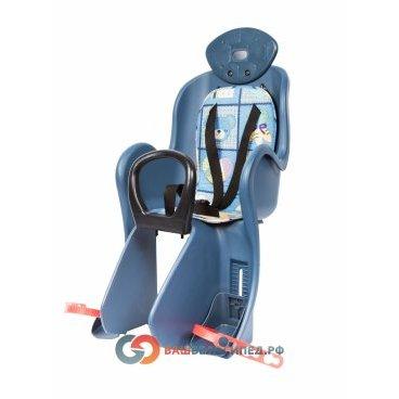 Кресло детское на багажник Vinca VS 801 с креплением, накладка с рисунком, Тайвань, VS 801 animalsДетское велокресло<br>Кресло детское с регулировкой высоты упора для ног, мягкая подкладка из ткани, несъёмные подголовник и поручень, крепление к багажнику велосипеда,  материал ПВХ.<br>Характеристики:<br>Тип кресла : заднее<br>Установка: на багажник<br>Макс. вес ребенка: 22 кг<br>Расположение ребенка: по ходу движения<br>Крепление ремней безопасности: трехточечное<br>Мягкая накладка на сиденье:есть<br>Защита ног: есть<br>Регулируемые по высоте подножки:есть<br>Поручень безопасности:есть<br>Материал: ПВХ.<br>Цвет: Рисунок<br>Высота спинки:35смШирина спинки:29смДлина сиденья:17.5смДиаметр замка:160мм <br><br>Производство: Тайвань.<br>