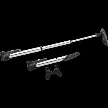 Насос для велосипеда Kross MATAGI, алюминий,  с манометром, T4CPO000119Велосипедный насос<br>Легкий насос, который может стать компаньоном для любой поездки.  Блокировка облегчает прокачку. Т-образная рукоятка повысит удобство при накачивании. Оснащен крышкой для защиты клапана от пыли.<br> Характеристики <br>- манометр<br>- поручень угловая с ручкой t-handle<br>- кронштейн крепления к раме<br>- защита на липучке<br>- фиксирующий рычаг<br>Длина 27 см - 56 см<br>Вес 165 г<br>
