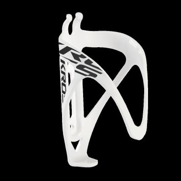 Флягодержатель на велосипед Kross Grid, черно-белый, пластик, T4CKZBI0062WHBKФляги и Флягодержатели<br>Легкий флягодержатель изготовлен из пластика. Продуманная форма обеспечивает надежный захват фляги, одновременно дает удобный доступ. <br> Характеристики <br>Материал: пластик<br>Монтаж: 2 нержавеющих болта<br>Вес: 33 г<br>