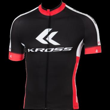 Веломайка Kross RACE PRO, короткий рукав, размер L, черный, T4COD000216LBKВелофутболка<br>Характеристики  <br> Материал: Giga эластичный<br><br> Длинная передняя молния с функцией СТОП<br><br> Размер: L/48-50<br>