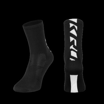 Носки Kross PRS TALL, размер XL, черный, T4COD000275XLBKВелоноски<br>Высокие носки , изготовленные из эластичного материала, легко принимают форму ступни. Хороший выбор не только для горных экспедиций, но также и для обычных поездок и езды по городу.<br> Размер: XL<br> Цвет: черный<br>