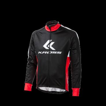Куртка утеплённая Kross RACE PRO, длинный рукав, размер XXL, черный, T4COD000241XXLBKВелокуртка<br>Куртка предназначенная для езды при низких температурах и высокой влажности. Расширенный огранка эффективно останавливает воду распыляют с заднего колеса. Высокий стоячий воротник обеспечивает комфорт во время езды на ветру. <br>Материал: полиэстер, эластан, лайкра <br>Размер: XXL<br>Цвет: черный<br>