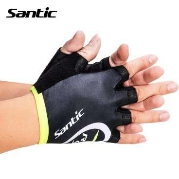 Перчатки Santic, короткие пальцы, размер M, черно-зеленый, M5C09035VMВелоперчатки<br>Размер:  M (EU-S) <br>Цвет: черно -зеленый<br>