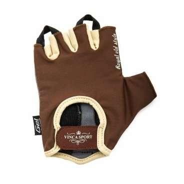 Перчатки велосипедные мужские, Man, гелевые вставки, цвет коричневый, размер L(VG 944 Man brown (L)Велоперчатки<br>Перчатки велосипедные  Vinca sport <br>Перчатки мужские, гелевые вставки<br>Материал внешней сторонылайкра<br>Материал тыльной стороныискусственная замша<br>Коллекция Vintage.<br>Стильные перчатки на липучке.<br>Цвет - коричневый<br>Размер: L<br>Индивидуальная упаковка Vinca sport<br>Артикул: VG 944 Man brown (L)<br>