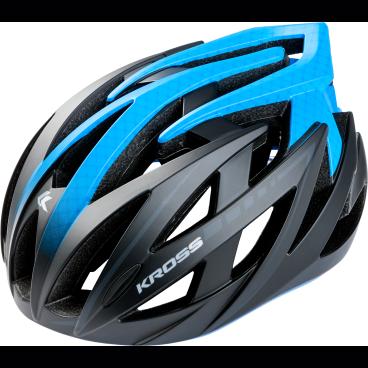 Велошлем Kross STIFF, размер L(58-61), синий, T4CKS000060LBLВелошлемы<br>Характеристики  <br> Размер: L(58-61) <br> Цвет: синий<br>