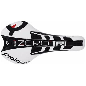 Седло велосипедное Prologo, ZERO-TRI PAS CPC, TIROX, черно-белый, AM15, ZETRTN2WBC5-AMСедла для велосипедов<br>Седло PROLOGO ZERO-TRI PAS CPC одно из лучших, в линейке Prologo, седло для триатлона и разделки. Плоская форма и увеличенная ширина седла, дают гонщикам дополнительные преимущества в эффективности и мощности педалирования.  <br><br> Prologo PAS (perineal area system) Эта система разработана, чтобы устранить излишнее давление на мягкие ткани и онемение в паховой области. Дополнительный комфорт достигнут благодаря применению пенного наполнителя с эффектом памяти и дополнительному вырезу в центральной части седла. Это гарантирует, хорошее кровоснабжение органов малого таза во время очень длинных поездок. Конечный результат - комфорт и работа без чувства усталости или онемения. <br><br> Prologo CPC (Connect Power Control) — технология пришедшая в велоспорт из гонок Formula 1 и запатентованная компанией Prologo. Короткие, полые внутри «ворсинки» изготовленные из гелеобразного полимера, выполняют сразу несколько функций. Удерживают гонщика от соскальзывания на нос седла. Благодаря наноструктуре полимера, гасят вибрацию и тряску, защищая мышцы и сухожилия, тем самым уменьшают «усталость» мышц и способствуют более быстрому восстановлению после тренировки. «Ворсинки» благодаря специальному материалу, из которого они изготовлены, деформируются снизу. В это же время верхней частью, они оказывают массирующий эффект, улучшая кровоснабжение тканей, дополнительно препятствуя онемению и чувству «покалывания». Также создаётся эффект улучшенной вентиляции и охлаждения. <br><br> Рамки седла TIROX - сталь легкого сплава, очень стойкая к растяжению и скручиванию, используется в авиационной и авиакосмической промышленности, имеет низкий вес. TIROX является идеальным балансом между прочностью, весом и ценой. <br>  Характеристики  <br> Размер:  254 * 136мм<br> Вес: 215 г <br> Основание: инъекции карбонового волокна<br> Рельсы: TiroX<br> Покрытие: микрофибра+ CPC<br> Заполнение: л