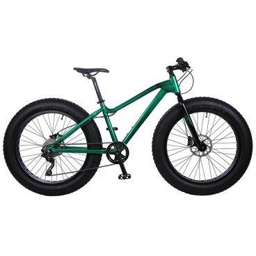Фэтбайк Totem 2016, размер рамы 18, зелёный глянцевый цвет, 26 x 4.9, 30 скоростей, T15B801AФэтбайки<br>Рама / FRAME: 18 Алюминий сплав 6061 FAT Bike с держателем под флягу<br>Вилка / FORK: Алюминий<br>Манетки / SHIFTER? SHIMANO DEORE SL-M610 RAPIDFIRE Plus (3L ,10R)<br>Передний переключатель / FRONT DERAILLEUR? SHIMANO DEORE KFDM611D6L<br>Задний переключатель / REAR DERAILLEUR? SHIMANO DEORE KRDM610SGSL<br>Шатуны (с защитой) / CRANKS? PROWHEEL ZEPHYR-601P 24/32/42<br>Каретка / BB: NECO B910<br>Кассета / GEAR: SHIMANO CS-HG50-10 11-36T<br>Цепь / CHAIN? KMC X10<br>Педали / PEDALS: FEIMIN FP-925<br>Передняя втулка / FRONT HUB? QUANDO с быстрым зажимом на 32 Спицы<br>Задняя втулка / REAR HUB: QUANDO с быстрым зажимом на 32 Спицы<br>Обода / RIMS: Алюминиевый, одностеночный облегченный обод, 80 мм ширина, 32 спицы<br>Покрышка / TIRES: CHAOYANG Big Daddy H-5176, 26 * 4.9, 120 TPI, фолдинговые, двойной компаунд (2C-MTB)<br>Вынос руля / STEM? MODE MD-HS127, Алюминий<br>Руль / HANDLEBAR? MODE 660 мм, Алюминий<br>Тормоза / BRAKES? Дисковые, Гидравлические SHIMANO M365 Hydraulic Disc Brake с ротором 180 мм RT56 (передний и задний)<br>Сиденье / SEAT? VADER<br>Подседельный штырь / SEAT POST? Алюминиевый с зажимом, диаметр 30.9 мм, Высота 300 мм<br>Вес кг / weight kg: 17<br>Подножка / kickstand: Есть<br>Размер в упаковке сантиметры / size in box cm: 155x27x76<br>