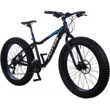 Фэтбайк Totem 2016, чёрный, взрослый, 24 скорости, колёса 26 x 4.0, 120 TPI, T15B802Фэтбайки<br>Рама / FRAME: 18 Алюминий сплав 6061 FAT Bike с держателем под флягу<br>Вилка / FORK: Сталь<br>Манетки / SHIFTER? SHIMANO ST-TX800-3L/ 8R 24 speed<br>Передний переключатель / FRONT DERAILLEUR? SHIMANO FD-M410E<br>Задний переключатель / REAR DERAILLEUR? SHIMANO RD-TX800<br>Шатуны (с защитой) / CRANKS? PROWHEEL MC-A326 22/32/42T<br>Каретка / BB: NECO B910<br>Кассета / GEAR: SHIMANO CS-HG200-8 12-32T<br>Цепь / CHAIN? KMC Z72<br>Педали / PEDALS: FEIMIN FP-917<br>Передняя втулка / FRONT HUB? QUANDO Alloy 36 Спиц<br>Задняя втулка / REAR HUB: QUANDO Alloy 36 Спиц<br>Обода / RIMS: Алюминиевый 36 Спиц<br>Покрышка / TIRES: CHAOYANG Big Daddy H-5176, 26 * 4.0, 120 TPI, фолдинговые, двойной компаунд (2C-MTB)<br>Вынос руля / STEM? MODE MD-HS127, Алюминий<br>Руль / HANDLEBAR? MODE 660 мм, Алюминий<br>Тормоза / BRAKES? Дисковые, Механические SHIMANO BR-TX805 Mechanical Disc Brake<br>Сиденье / SEAT? VADER<br>Подседельный штырь / SEAT POST? Алюминиевый с зажимом, диаметр 30.9 мм, Высота 300 мм<br>Вес кг / weight kg: 17<br>Подножка / kickstand: Есть<br>Размер в упаковке сантиметры / size in box cm: 155x27x76<br>