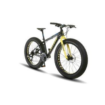 Фэтбайк Totem 2017, размер рамы 18, чёрный цвет, взрослый, колёса 26*4.9, 24 скорости, T16B801BФэтбайки<br>Рама / FRAME: 18 Алюминий сплав 6061 FAT Bike с держателем под флягу<br>Вилка / FORK: Алюминий<br>Манетки / SHIFTER? SHIMANO ST-TX800-3L/ 8R 24 speed<br>Передний переключатель / FRONT DERAILLEUR? SHIMANO FD-M410E<br>Задний переключатель / REAR DERAILLEUR? SHIMANO RD-TX800<br>Шатуны (с защитой) / CRANKS? PROWHEEL MC-A326 22/32/42T<br>Каретка / BB: NECO B911<br>Кассета / GEAR: SHIMANO CS-HG200-8 12-32T<br>Цепь / CHAIN? KMC Z72<br>Педали / PEDALS: FEIMIN FP-917<br>Передняя втулка / FRONT HUB? QUANDO с быстрым зажимом на 32 Спицы<br>Задняя втулка / REAR HUB: QUANDO с быстрым зажимом на 32 Спицы<br>Обода / RIMS: Алюминиевый, одностеночный облегченный обод, 80 мм ширина, 32 спицы<br>Покрышка / TIRES: CHAOYANG Big Daddy H-5176, 26 * 4.9, 120 TPI, фолдинговые, двойной компаунд (2C-MTB)<br>Вынос руля / STEM? MODE MD-HS127, Алюминий<br>Руль / HANDLEBAR? MODE 660 мм, Алюминий<br>Тормоза / BRAKES? Дисковые, Механические SHIMANO BR-TX805 Mechanical Disc Brake<br>Сиденье / SEAT? VADER<br>Подседельный штырь / SEAT POST? Алюминиевый с зажимом, диаметр 30.9 мм, Высота 300 мм<br>Вес кг / weight kg: 17<br>Подножка / kickstand: Есть<br>Размер в упаковке сантиметры / size in box cm: 155x27x76<br>