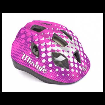 Велошлем детский Author Mirage Inmold, 48-54 cm, 12 отверстий, розово-белый, 8-9089961Велошлемы<br>Велошлем детский Author Mirage Inmold 48-54cm<br><br>Легкий детский шлем, изготовленный по технологии In-mold. Система фиксации Fit помогает быстро отрегулировать шлем на голове ребенка. Большие вентиляционные отверстия позволяют пропускать свежий прохладный воздух, даже в самую жару, что дарит ребенку дополнительный комфорт.<br><br>Технология In-mold обеспечивает устойчивость и низкий вес.<br><br>Подушечки внутри шлема антибактериальные и их можно снимать, стирать.<br><br>12 вентиляционных отверстий обеспечивают превосходную вентиляцию (впереди есть сетка от насекомых).<br>Размер: 48-54 см<br>Цвет: розово-белый <br>Вес: 220г.<br>