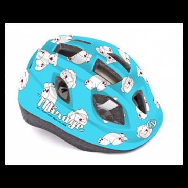 Велошлем детский Author Mirage Inmold, 48-54 cm, 12 отверстий, синий, 8-9089960Велошлемы<br>Велошлем детский Author Mirage Inmold 48-54cm 164 blue-bear<br><br>Легкий детский шлем, изготовленный по технологии In-mold. Система фиксации Fit помогает быстро отрегулировать шлем на голове ребенка. Большие вентиляционные отверстия позволяют пропускать свежий прохладный воздух, даже в самую жару, что дарит ребенку дополнительный комфорт.<br><br>Технология In-mold обеспечивает устойчивость и низкий вес.<br><br>Подушечки внутри шлема антибактериальные и их можно снимать, стирать.<br><br>12 вентиляционных отверстий обеспечивают превосходную вентиляцию (впереди есть сетка от насекомых).<br>Размер: 48-54 см<br>Вес: 220г.<br>