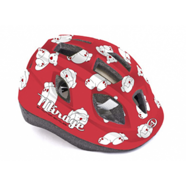 Велошлем детский Author Mirage Inmold, 48-54 cm, 12 отверстий, красный, 8-9089958Велошлемы<br>Шлем детский Author Mirage Inmold 48-54cm red-bear <br>Легкий детский шлем, изготовленный по технологии In-mold. Система фиксации Fit помогает быстро отрегулировать шлем на голове ребенка. Большие вентиляционные отверстия позволяют пропускать свежий прохладный воздух, даже в самую жару, что дарит ребенку дополнительный комфорт.<br><br>Технология In-mold обеспечивает устойчивость и низкий вес.<br><br>Подушечки внутри шлема антибактериальные и их можно снимать, стирать.<br><br>12 вентиляционных отверстий обеспечивают превосходную вентиляцию (впереди есть сетка от насекомых).<br>Размер: 48-54 см<br>Вес: 220г.<br>