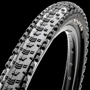 Велопокрышка Maxxis Aspen, 29x2.1, 120 TPI, складная, черная, TB96653000Велопокрышки<br>Компания Maxxis вновь отличилась, выпустив новейшую гоночную покрышку для «кросс-кантри». Новая покрышка Maxxis Aspen задает новые стандарты для легких покрышек для «кросс-кантри» с минимальным сопротивлением качению. Покрышка Aspen сглаживает даже самые ощутимые неровности рельефа за счет объемного каркаса, а двойной состав обеспечивает оптимальное сцепление в повороте. Если вы твердо вознамерились первым пересечь финишную черту, Aspen — это ваш выбор.  <br>  Характеристики  <br> Размер: 29X2.10<br>  ETRTO: 52-622 <br> TPI: 120<br>  Тип: FOLDABLE<br>  Вес: 565 г <br> Компаунд: DUAL<br>  Макс. давление <br> PSI: 65 <br>   Цвет: черный<br>