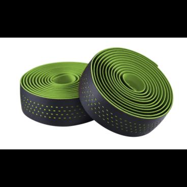Обмотка на руль велосипедная Merida Microfiber, with Shockproof Pro, черно-зеленый, 2057006340Ручки и Рога<br>Перфорированная обмотка для руля Merida.<br>Материал: микрофибра со специальным материалом Shockproof.<br>Хорошо отводит влагу от рук, обладает ударопоглощающим свойством - руки намного меньше утомляются при езде по неровным поверхностям.<br>Цвет: черно-зеленый<br>