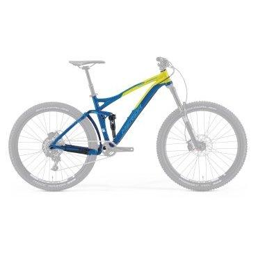 Рама велосипедная Merida One-Forty 7.900-FRM, Blue/Yellow, 2015 г.Рамы<br>Размер колес: 27,5<br>Материал рамы: 6061 aluminium<br>Рулевой стакан: 1 1/8<br>Цвет: Blue/Yellow<br>Амортизатор: передний (рекомендовано до 100-150мм), задний<br>Стандарт крепления тормоза: IS<br>Модельный ряд: 2015<br>Дополнительно: только дисковые тормоза<br>