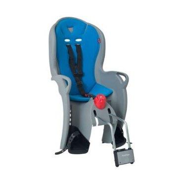 Детское велокресло на подседельную трубу HAMAX SLEEPY, серый/синий, на раму, 551524Детское велокресло<br>Высококачественное велокресло, с функцией Сон<br>Плавная регулировка сиденья обеспечивает максимальную безопасность и правильное положение cпины ребенка во время сна (12,5 ? градусов)<br>Может быть установлен на велосипедах как c, так и без багажника.<br>Для детей старше 9 месяцев и до 22 кг.<br>Регулируемый ремень безопасности и опоры. Пояс-пряжка не может быть открыт ребенком.<br>Установка на раму с диаметром трубы 28-40 мм<br>