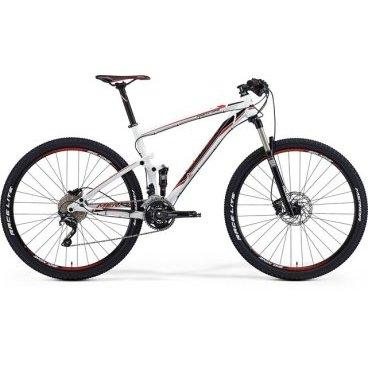 Рама велосипедная Merida Ninety-Nine 9.600-FRM, Размер: M 17, Цвет: White (black/red) 2015г.Рамы<br>Размер колес: 29<br>Материал рамы: 6061 aluminium<br>Рулевой стакан: 1,5-&gt;1 1/8<br>Цвет: White (black/red)<br>Амортизатор: передний, задний<br>Стандарт крепления тормоза: IS<br>Модельный ряд: 2015<br>Дополнительно: только дисковые тормоза<br>