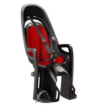 Детское велокресло на подсид. штырь HAMAX CARESS ZENITH + адаптер для багажн., серый/красный, 553042Детское велокресло<br>Комфорт. Дополнительные мягкие пряжки для фиксации ребенка в кресле очень легкие и комфортные, но при этом обеспечивают надежную фиксацию ребенка в велокресле, позволяя при необходимости совершать резкие маневры и торможения. Эргономика велокресла рассчитана так что спинка кресла не будет мешать голове ребенка в моменты когда он хочет откинуться назад кресла в шлеме.<br>Подходит для подседельных труб рамы велосипеда диаметром от 28 до 40 мм. (круглые и овальные).<br><br>Механизмы регулировки застежек позволяют комфортно отрегулировать их вместе с ростом ребенка.<br>Все детские велосидения Hamax растут вместе с ребенком!  Регулируемые ремень безопасности и подножки.<br>Детское сиденье для велосипеда очень легко крепится и освобождается от велосипеда. Приобретая дополнительный кронштейн, вы можете легко переставлять детское сиденье с одного велосипеда на другой.<br>Не забудьте: ребенок должен всегда носить шлем при использовании детского сиденья<br>Запираемый кронштейн крепления.<br>Проработанная эргономика кресла для максимально комфортной посадки.<br>3-точечные ремни безопасности с дополнительным кронштейном для фиксации в районе груди,и обеспечения ребенку безопасной и удобной посадки.<br>Специальная конструкция пряжек ремней безопасности/фиксации для предотвращения саморастегивания ребенка.<br>Простое в использование, полностью соответствующее всем Европейским стандартам безопасности.<br>Крепится только  на багажники Hamax (в комплект не входит).<br>Предназначено для детей в возрасте старше 9 месяцев и весом до 22 кг.<br>Регулируемый ремень безопасности и подножки.<br>Регулировка подножек одной рукой<br>Встроенные отражатели для улучшения видимости кресла<br>Мягкие плечевые пряжки ремней<br>Велокресло сертифицировано по: T?V / GS EN14344<br>Материал изготовления: PP - полипропилен ( безопасный и гипоаллергенный ) УФ стабильный - не боится солне