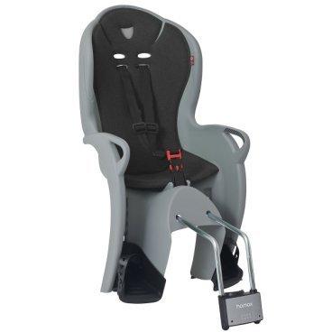 Детское велокресло на подседельную трубу HAMAX KISS, серый, 551046Детское велокресло<br>Рекомендовано для детей старше 9 месяцев и до 22 кг. Регулируемый ремень безопасности и опоры. Пояс-пряжка не может быть открыт ребенком. <br>Установка на раму с диаметром трубы 28-40 мм. Hamax рекомендует, что ребенок должен всегда носить шлем при использовании детского сиденья.<br><br>РАзмер  48?38, 5?70 cm/3.6 kg<br>