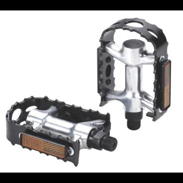 Педали велосипедные BBB mtb regular BigFeet, черный/серебро, алюминий, BPD-16Педали для велосипедов<br>Прочные педали из кованного алюминия.<br>Очень прочные и легкие.<br>Надежная ось CrMO.<br>Рамка с зубцами для лучшего контакта. Хорошее сцепление с обувью даже в мокрую погоду.<br>Отражатели для безопасности в темное время суток.<br>Совместимы с ремнями BPD-30 Bike &amp; Tight.<br>