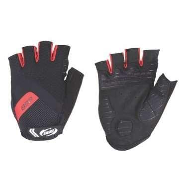 Перчатки велосипедные BBB HighComfort, черный/красный, US:M, BBW-41Велоперчатки<br>Высокотехнологичные профессиональные летние перчатки.<br><br>Вставки в ладони для комфорта и противоскользящие силиконовой полоски на ладони.<br><br>Махровая часть на большом пальце.<br><br>Петли между пальцами для легкого снятия перчаток.<br>