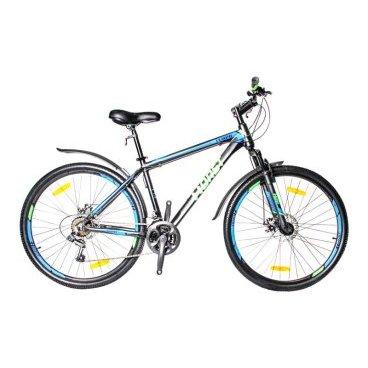 Горный велосипед HORST Tempo 27,5 2017Горные (MTB)<br>Горный велосипед HORST TEMPO подойдет тем, кто хочет покорять новые дороги, тропы и вершины. Прочная и легкая алюминиевая рама в сочетании с амортизационной вилкой, 21 скорость и большие 27.5-дюймовые колеса помогут вам легко передвигаться в любых условиях, а дисковые тормоза гарантируют вам мощное и надежное торможение на спусках и высоких скоростях. Стильный дизайн не останется незамеченным окружающими. Велосипед уже укомплектован самыми необходимыми вспомогательными элементами: крыльями на колесах, защищающими вас от грязи, и подножкой для его удобной парковки. Умеренный вес выгодно отличает этот байк от большинства конкурентов. По соотношению цена/качество HORST TEMPO на настоящий момент является одним из лучших предложений на рынке.<br>Модельный год2017<br>Рама (размеры)Алюминиевая (сплав 6061), колеса 27,5 (17, 19)<br>ВилкаHORST 715F, амортизационная<br>Рулевая колонкаJINGYE, 1-1/8<br>Руль / выносHORST, ширина 640 мм, стальной / HORST, алюминиевый<br>КареткаNECO B902, картридж<br>ЦепьKMC Z33<br>ВтулкиSHUNFENG, 36 отверстий<br>МанеткиShimano Tourney, триггерные<br>Передний переключательSHIMANO TZ30<br>Задний переключательSHIMANO TY21<br>КассетаSHUNFEN, 14-28 зубьев, 7 звезд<br>ТормозаREPUTE DSC-510, дисковые<br>Тормозные ручкиShimano Tourney ST-EF41<br>Система42-32-22 зубьев, 170 мм шатуны<br>Ободадвойные обода, 36 отверстий, алюминиевые<br>ПокрышкиFEIYADA, 27.5x2.1<br>ПедалиFEIMIN, пластмассовые<br>Количество скоростей21<br>