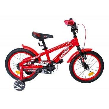 Детский велосипед HORST Blitz 16 2017Детские<br>Детский велосипед HORST BLITZ на 16-дюймовых колесах создан специально для юных велосипедистов. Дополнительные балансировочные колесики позволят начать ездить на велосипеде самым маленьким, а позже их можно будет снять и ездить на двух колесах. HORST BLITZ рассчитан на 4-6-летних детей. Благодаря алюминиевой раме, велосипед весьма легок. Яркая агрессивная раскраска не оставит обладателей равнодушными. Помимо дополнительных колес, велосипед оборудован крыльями, звонком, защитой цепи.<br>Модельный год2017<br>Рама (размеры)Алюминиевая (сплав 6061), колеса 16<br>ВилкаHORST, жесткая стальная<br>Рулевая колонкаNECO H800K, 1<br>Руль / выносHORST, ширина 480 мм, стальной / HORST, стальной<br>КареткаYONGLING D-3<br>ЦепьMEIYA C410B<br>ВтулкиSHUNFENG, 20 отверстий, ножной тормоз<br>Манетки-<br>Передний переключатель-<br>Задний переключатель-<br>Кассета16 зубьев<br>ТормозаSPARKLE, V-brake, ободные<br>Тормозные ручкиSPARKLE<br>Система28 зубьев, 114 мм шатуны<br>Обода20 отверстий, алюминиевые<br>ПокрышкиWANDA, 16<br>ПедалиFEIMIN, пластмассовые<br>Количество скоростей1<br>