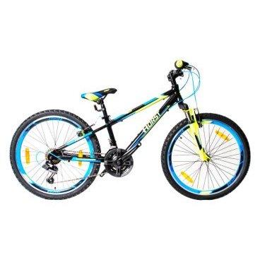 Детский велосипед HORST Stich 24 2017Детские<br>Детский велосипед HORST STICH на 24-дюймовых колесах – это настоящий горный велосипед, рассчитанный на 8-11-летних подростков. Все как на настоящем горном байке: легкая и прочная алюминиевая рама, амортизационная вилка, 21 передача. Восхищенные взгляды сверстников вашему ребенку обеспечены!<br>Модельный год2017<br>Рама (размеры)Алюминиевая (сплав 6061), колеса 24<br>ВилкаHORST 711B, амортизационная<br>Рулевая колонкаFEIMIN, 1-1/8<br>Руль / выносHORST, ширина 580 мм, стальной / HORST, алюминиевый<br>КареткаYONGLING D-3<br>ЦепьKMC Z33<br>ВтулкиSHUNFENG, 36 отверстий<br>МанеткиSHIMANO Revoshift<br>Передний переключательSUNRUN FD-QD35<br>Задний переключательSHIMANO TY21<br>КассетаSHUNFEN, 14-28 зубьев, 7 звезд<br>ТормозаLIMENG, V-brake, ободные<br>Тормозные ручкиSPARKLE<br>Система42-34-24 зубьев, 165 мм шатуны<br>Ободадвойные обода, 36 отверстий, алюминиевые<br>ПокрышкиWANDA, 24x1.95<br>ПедалиFEIMIN, пластмассовые<br>Количество скоростей21<br>