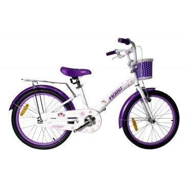 Детский велосипед HORST Welpe 20 2017Детские<br>Детский велосипед HORST WELPE на 20-дюймовых колесах создан для девочек. Ничего лишнего и сложного: одна передача, ножной + ручной тормоз. Нежная раскраска не оставят обладательниц равнодушными. Широкий набор дополнительного оборудования:  крылья, защита цепи, подножка, багажник, корзинка на руле. HORST WELPE рассчитан на 6-9-летних детей.<br>Модельный год2017<br>Рама (размеры)Алюминиевая (сплав 6061), колеса 20<br>ВилкаHORST, жесткая стальная<br>Рулевая колонкаNECO H800K, 1<br>Руль / выносHORST, ширина 520 мм, стальной / HORST, стальной<br>КареткаYONGLING D-3<br>ЦепьMEIYA C410B<br>ВтулкиSHUNFENG, 28 отверстий, ножной тормоз<br>Манетки-<br>Передний переключатель-<br>Задний переключатель-<br>Кассета16 зубьев<br>ТормозаSPARKLE, V-brake, ободные<br>Тормозные ручкиSPARKLE<br>Система36 зубьев, 140 мм шатуны<br>Обода28 отверстий, алюминиевые<br>ПокрышкиFEIYADA, 20x2.125<br>ПедалиFEIMIN, пластмассовые<br>Количество скоростей1<br>