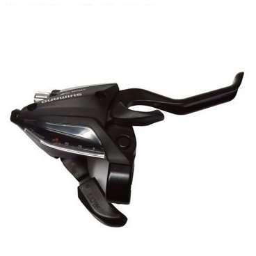 Шифтер велосипедный с тормозной ручкой Tourney Shimano EF500, правый, 7 скоростей, трос, ESTEF5002RVМанетки и Шифтеры<br>Шифтер с Тормозной ручкой Tourney, EF500, правая, 7 скоростей, трос, цвет черный<br>Шифтер необходим для управления многоскоростными системами велосипеда. <br>Универсальное управление совмещающее в себе переключение передач и тормозными ручками. <br>Шифтер подбирается под конкретное количество скоростей.<br> Совместим с любым диаметром руля.<br>Бренд SHIMANO<br>