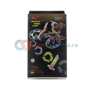 Фонарик велосипедный на спицы, 32 светодиодов/цвета радуги/42 чередующихся рисунков, ESL016CФары и фонари для велосипеда<br>Фонарик на спицы ESL016C.<br><br>32 светодиодов/цвета радуги/42 чередующихся рисунков, батарейки 3xААА в комплекте.<br><br>Тип: Комплект<br>Тип питания: Батарейки<br>Число режимов работы: 1<br>Мощность фар: Для отметки на дороге<br>